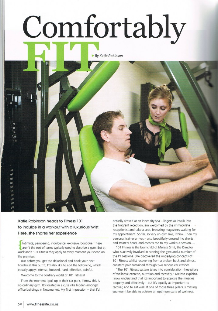 Fitness Life Magazine Article 101 Fitness Page 1