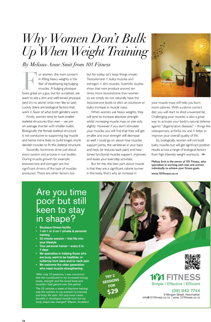 Melissa Anne Smit 101 Fitness Auckland Personal Trainer