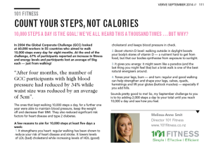 Count your steps not calories